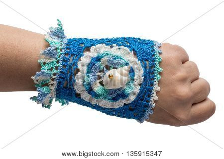 The Bracelet Embroidered With Threads
