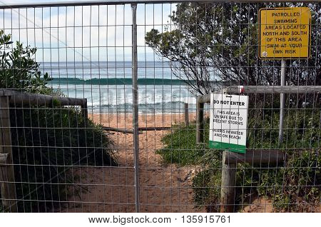 Sydney, AUSTRALIA - Jun 26, 2016. Collaroy Beach is still closed and