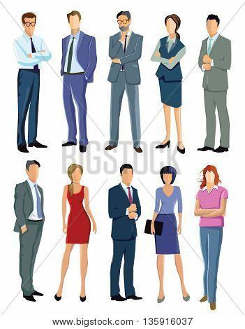 People Group Illustration,  businessman, people, group, colleague