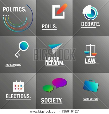 Politics background about polls, law and corruption for the elections