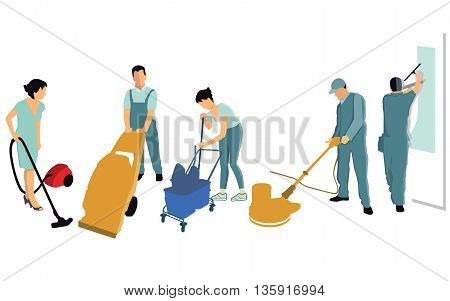 Cleaning power, vacuum cleaners, water bucket, scrubbers, service,