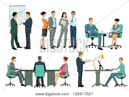 office meeting, business discussion, organization. information, brainstorming