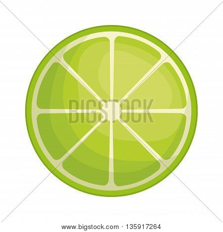 Organic and Healthy food concept represented by lemon fruit icon. isolated and flat illustration