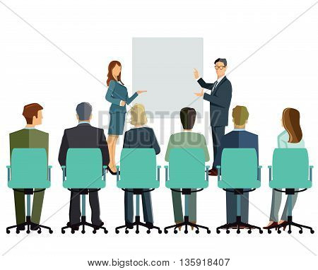 information lecturing, presentation, consultants, company plan concept