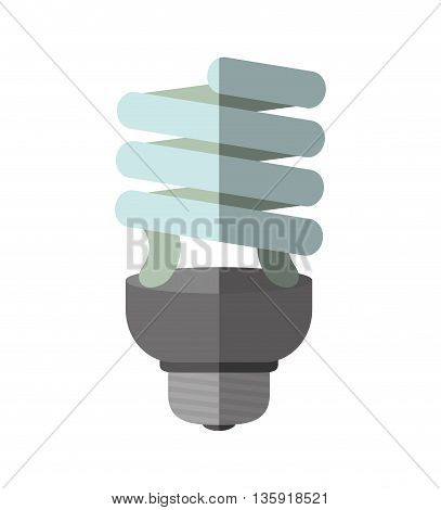 Save Energy concept represented by light bulb icon. isolated and flat illustration