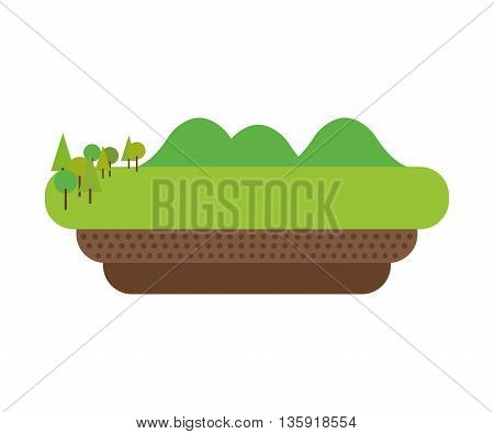 Nature concept represented by lanscape icon. isolated and flat illustration