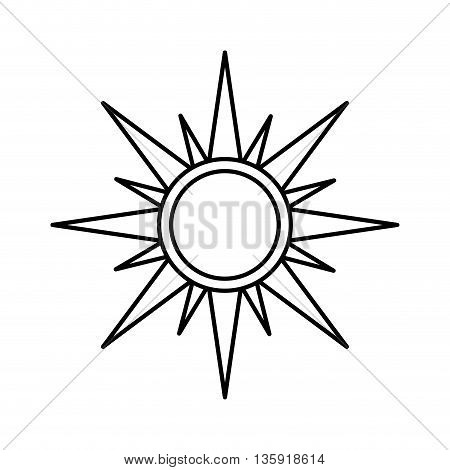 Weather oncept represented by sun icon. isolated and flat illustration