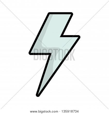 Weather oncept represented by thunder icon. isolated and flat illustration