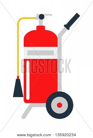 Red fire extinguisher isolated vector.
