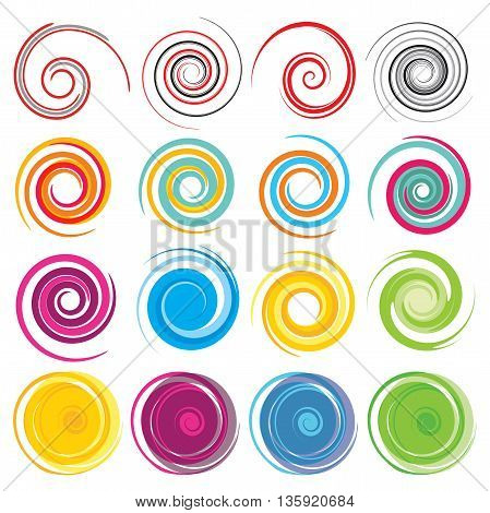 Spiral, rotation and swirling movement - vector illustration