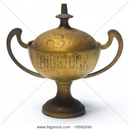 Antique Nyonya Cup, Clipping Path Included