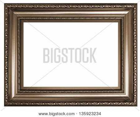 Antique frame isolated on white background - Sepia toned image in retro style