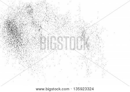 Abstract Grainy Texture Isolated On White.