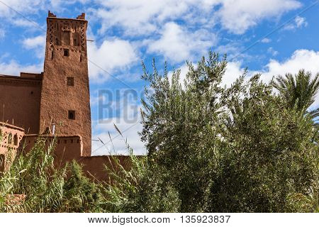 Beautiful view of kasbah Ait ben Haddou in Morocco.