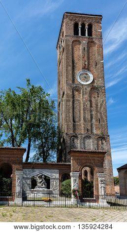Campanile Of The Medieval Church Of Santa Maria E San Donato