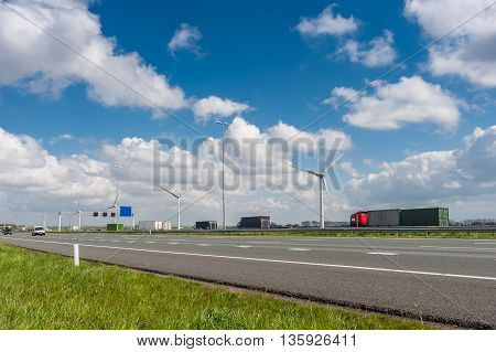 Cars And Trucks On Highway