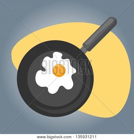 Vector Illustration Of Omelette.