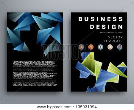 Abstract Background. Geometric Shapes and Frames for Presentation, Annual Reports, Flyers, Brochures, Leaflets, Posters,and Document Cover Pages Design. A4 Title Sheet Template