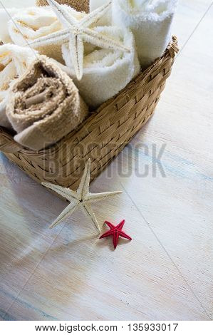 Bath Towels And Sea Stars