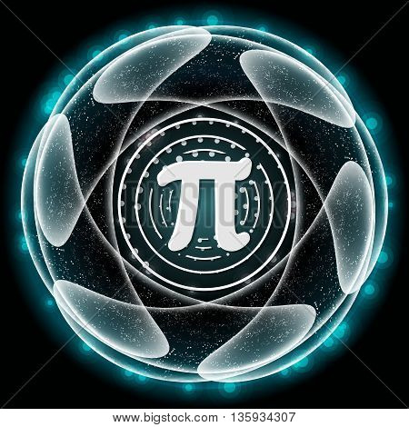 Vector abstract object and icon of pi