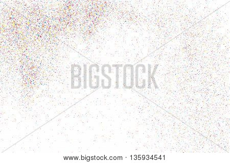 Colorful Explosion Of Confetti.  Colorful Grainy Texture Vector.