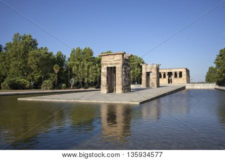 debod temple, madrid, Spain