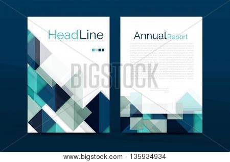 3d geometric shapes design a4 cover. business corporate brochure identity template