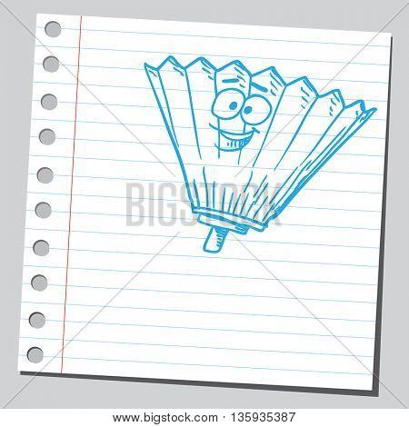 Cartoon hand fan