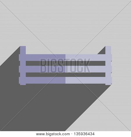 Flat icons with shadow of storage box crop. Vector illustration