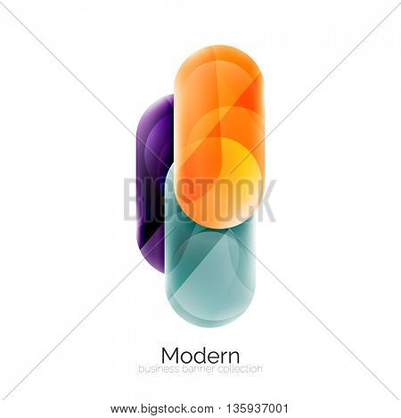 Colorful glossy glass bubbles for text. universal template