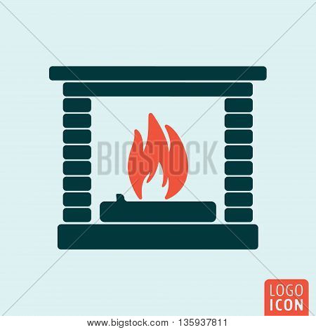 Fire icon isolated. Fireplace symbol. Vector illustration