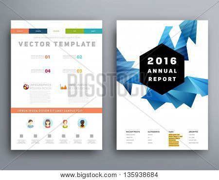 Abstract Background. Geometric Shapes and Frames for Presentation, Annual Reports