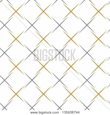 Geometric abstract vector background. Seamless modern pattern. Silver and golden pattern