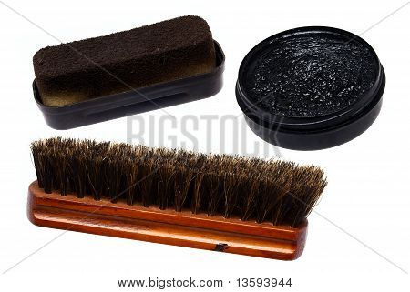 Set for a shoe-polish