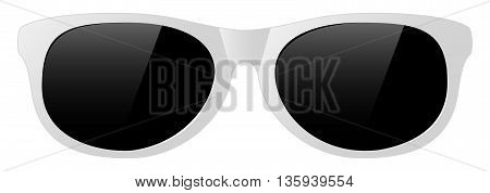 vector white sun glasses with the light shine protect before sun shining