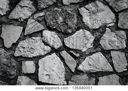 Wall Of Stones As A Texture