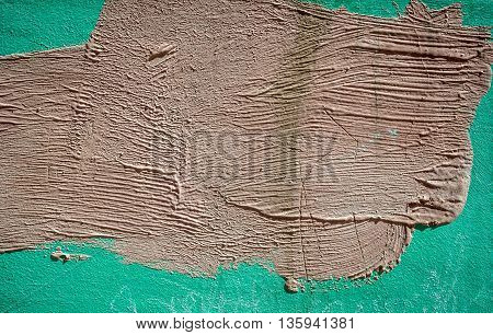 Green concrete wall texture with paint grunge background