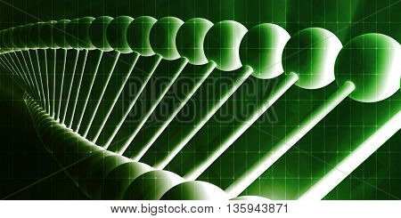 Pharmaceutical Abstract Background with Molecule Chemical Structure 3d Illustration Render