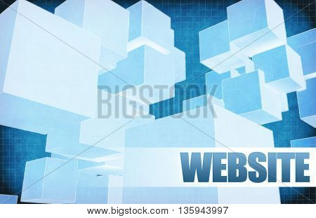 Website on Futuristic Abstract for Presentation Slide 3d Illustration Render