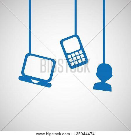 mobile technology design, vector illustration eps10 graphic