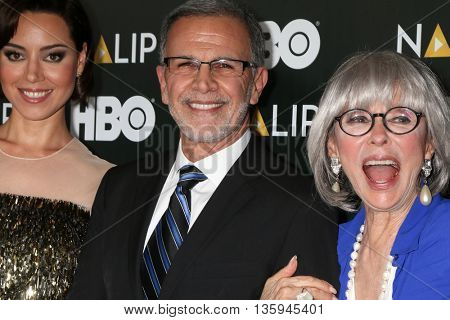 LOS ANGELES - JUN 25:  Aubrey Plaza, Rita Moreno, Tony Plana at the NALIP 2016 Latino Media Awards at the The Dolby on June 25, 2016 in Los Angeles, CA