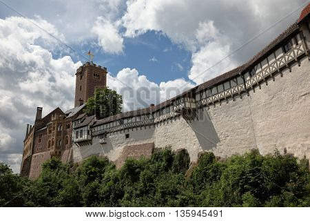 The Wartburg Castle of Eisenach in Germany