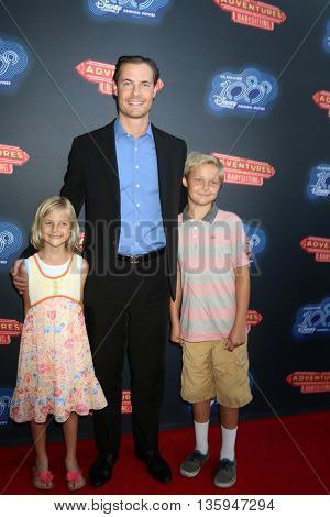 LOS ANGELES - JUN 23:  Daughter, Erik Von Detten, Son at the 100th DCOM Adventures In Babysitting LA Premiere Screening at the Directors Guild of America on June 23, 2016 in Los Angeles, CA