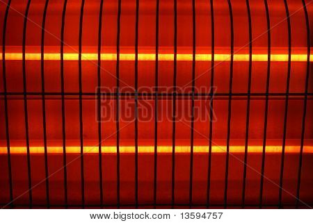 Fragment of an electric heater