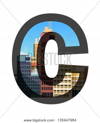 City construction. Typographic vector illustrations Typographic illustrations