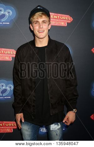 LOS ANGELES - JUN 23:  Jake Paul at the 100th DCOM Adventures In Babysitting LA Premiere Screening at the Directors Guild of America on June 23, 2016 in Los Angeles, CA