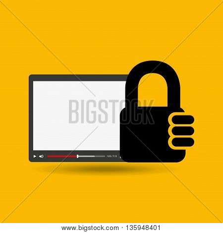 security system design, vector illustration eps10 graphic