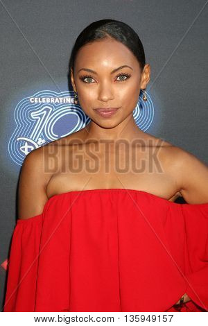 LOS ANGELES - JUN 23:  Logan Browning at the 100th DCOM Adventures In Babysitting LA Premiere Screening at the Directors Guild of America on June 23, 2016 in Los Angeles, CA