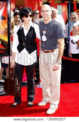 Jeffrey Katzenberg and Marilyn Katzenberg at the Los Angeles premiere of 'Kung Fu Panda' held at the Grauman's Chinese Theater in Hollywood, June 1, 2008.