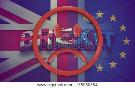 Brexit Design United Kingdom And Europe Flag